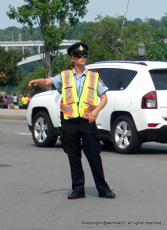 A traffic cop in Niagara.